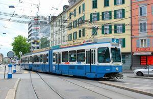 Albisrieder Platz lijn3 Tram2000