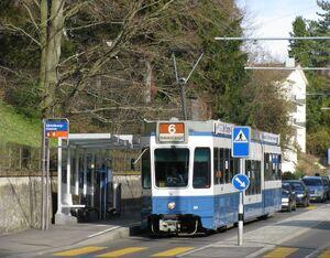 Zürichbergstrasse lijn6 Tram2000