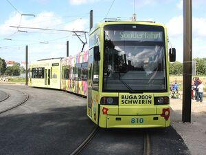 BUGA Strassenbahn Schwerin