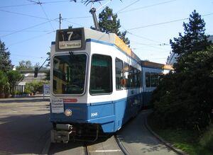 Wollishofen lijn7 Tram2000