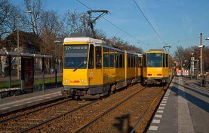 Treskowallee Volkspark Wuhlheide lijn37 KT4D