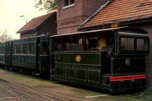 Train vicinal à vapeur, musée de Schepdaal