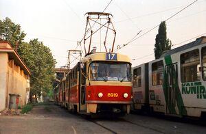 Nádraží Braník lijn17 T3