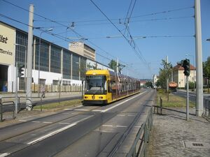 Haltepunkt Dobritz lijn1 NGT8DD
