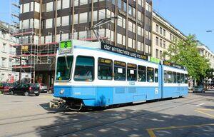 Börsenstrasse lijn8 Tram2000