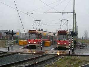 Beginpunt aan Middenweg met GTL II 3134+3109