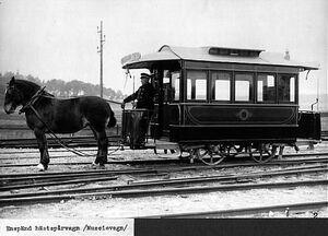 Enspand hastsparvagn, museivagn fran 1877