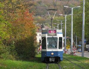 Universität Irchel lijn10 Tram2000