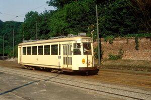 "Motrice vicinale type ""S"", gare du Heysel (Bruxelles)"
