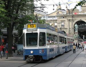 Bahnhofstrasse lijn13 Tram2000