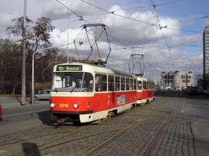Olšanské hřbitovy lijn16 T3RP