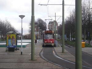 Eindpunt Station Voorburg met GTL II 3143 als lijn 10