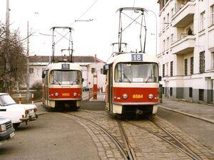 Vozovna Pankrác lijn18 T3