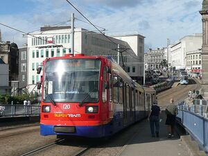 Supertram at parksquarebridge