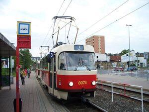 Nádraží Modřany lijn3 T3M