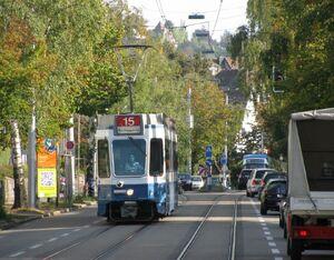 Laubiweg lijn15 Tram2000