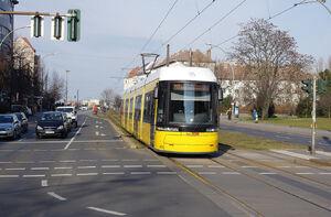 Fröbelstraße lijnM2 FlexityBerlin