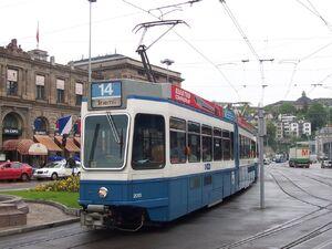 Bahnhofplatz lijn14 Tram2000