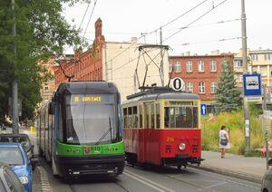 Krasińskiego lijn10 0 PESA Konstal4N