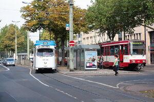 Rheinstraße lijn044 GT8 U76 StadtbahnB