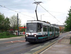 Metrolink tram in Eccles