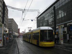 Alexanderplatz Dircksenstraße lijnM2 Flexity