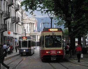 Bahnhof Stadelhofen lijn15 Tram2000 Forchbahn