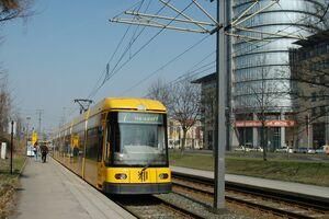 Haltepunkt Freiberger Straße lijn7 NGT8DD