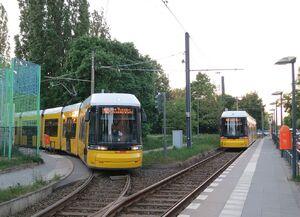 Heinersdorf lijnM2 FlexityBerlin