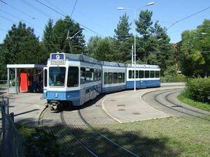 Hirzenbach eindpunt lijn9 Tram2000