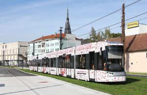 Traun Hauptplatz lijn4 Cityrunner