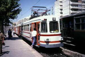 Ex-NMVB tram in Valencia 2