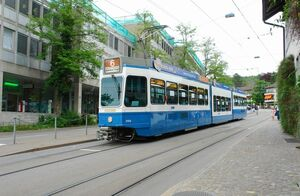 Kirche Fluntern lijn6 Tram2000