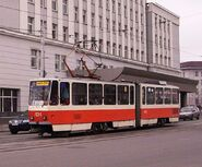Kaliningrad town hall and tram424
