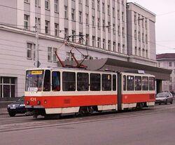 Kaliningrad town hall and tram424