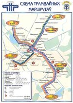 Minsk tram map