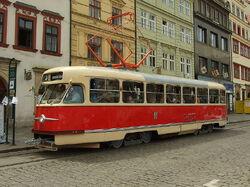 Plzeň, Náměstí Republiky, Tatra T2 cropped