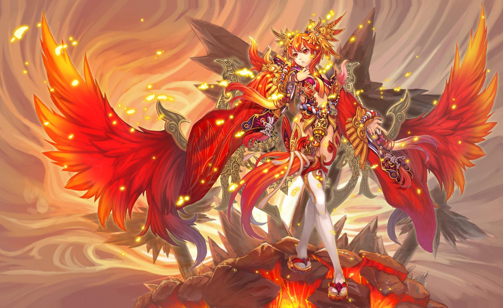 Image 1600x978 20173 Phoenix 2d Anime Phoenix Girl Woman Picture