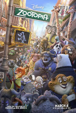 Disney's Zootopia - Theatrical Poster