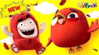 Oddbods JEFF AND THE ANGRY BIRD Funny Cartoons For Kids
