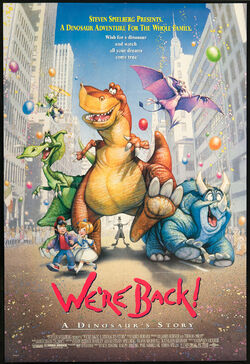 Universal's We're Back! - A Dinosaur's Story - Theatrical Poster