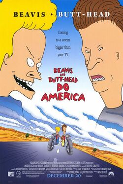 Paramount and MTV's Beavis and Butt-Head Do America - Theatrical Poster
