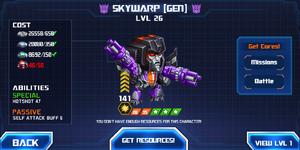 Ui battle targeted skywarp gen recruit