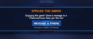 Ui setting tell a friend