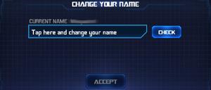 Ui setting change name