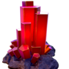 Composite ruby crystal