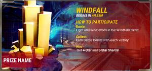 Ui event pre windfall a