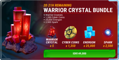 Bundle event 20160715 - warrior crystal a