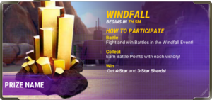 Ui event pre windfall d