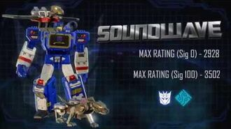 Bot Showcase - Soundwave Transformers Forged to Fight